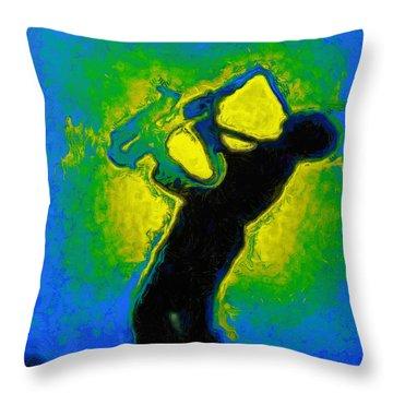 Jazz Festival Yellow - Da Throw Pillow
