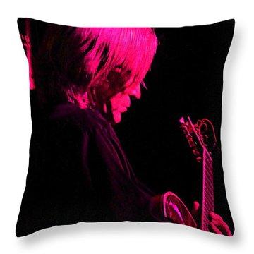 Throw Pillow featuring the photograph Jazz Guitarist by Lori Seaman