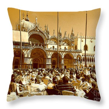Jazz In Piazza San Marco Throw Pillow