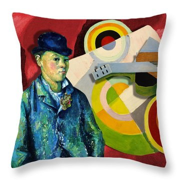 Jazz Man Throw Pillow