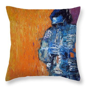 Jazz Miles Davis 2 Throw Pillow
