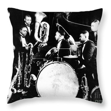 Jazz Musicians, C1925 Throw Pillow