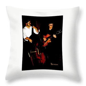 Jazz Musicians Throw Pillow by Sadie Reneau