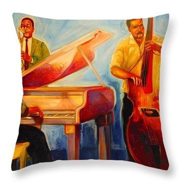 Jazz Night Throw Pillow