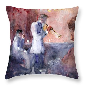 Jazz Nights Throw Pillow