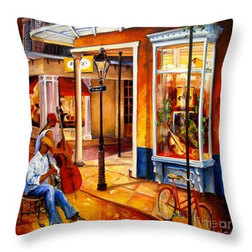 Jazz On Royal Street Throw Pillow