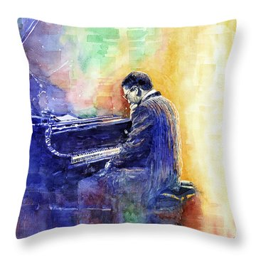 Jazz Pianist Herbie Hancock  Throw Pillow by Yuriy Shevchuk