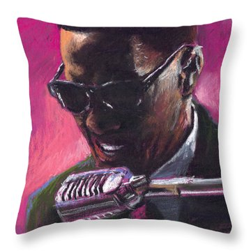 Jazz. Ray Charles.1. Throw Pillow by Yuriy  Shevchuk