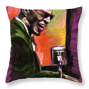 Jazz. Ray Charles.2. Throw Pillow by Yuriy  Shevchuk
