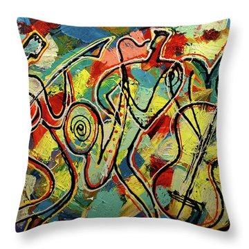 Jazz Rock Throw Pillow