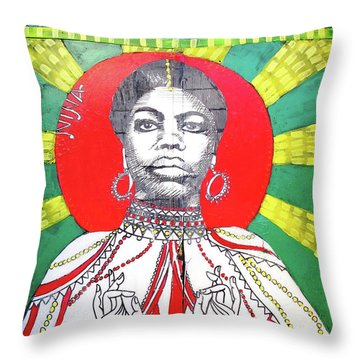 Jazz Saint Throw Pillow