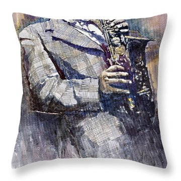 Jazz Saxophonist Charlie Parker Throw Pillow