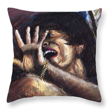 Jazz Song 1 Throw Pillow by Yuriy  Shevchuk