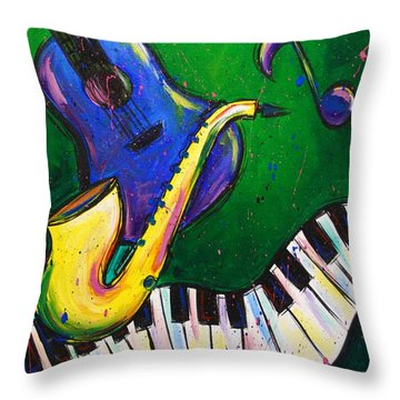 Jazz Time Throw Pillow
