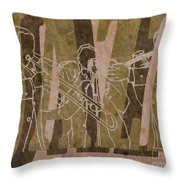 Jazz Trio 33 - Brown Throw Pillow