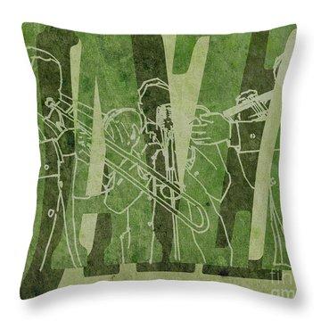 Jazz Trio 33 - Green Throw Pillow