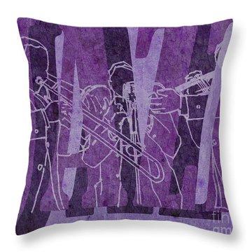 Jazz Trio 33 - Purple Throw Pillow