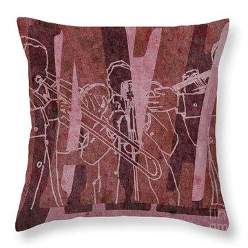 Jazz Trio 33 - Red Throw Pillow