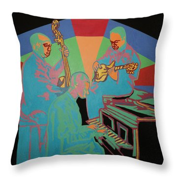 Jazzamatazz Band Throw Pillow