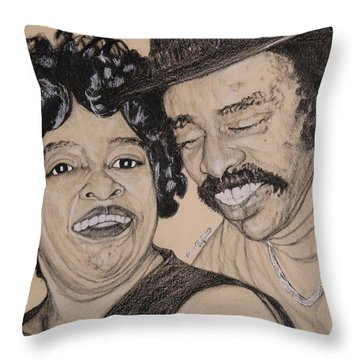 Jb  Wg Portrait Throw Pillow