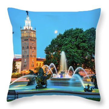 J.c. Nichols Memorial Fountain Throw Pillow