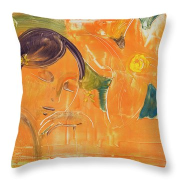 Je Revien Tahiti Throw Pillow