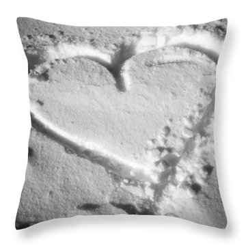 Winter Heart Throw Pillow by Juergen Weiss