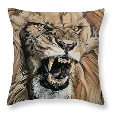 Jealous Roar Throw Pillow