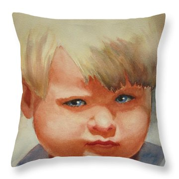 Jean Throw Pillow by Marilyn Jacobson