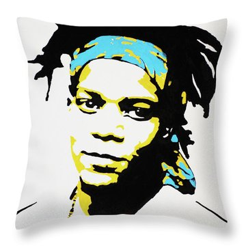 Jean-michel Basquiat Throw Pillow