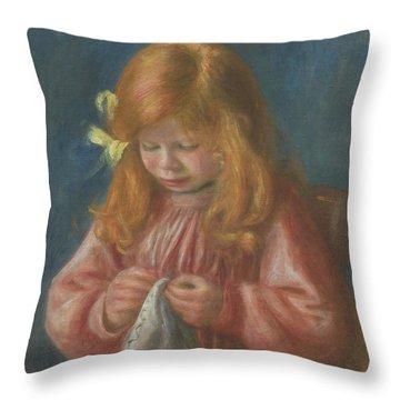 Jean Renoir Sewing Throw Pillow