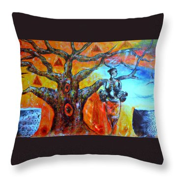 Jeanilia Throw Pillow by Fania Simon
