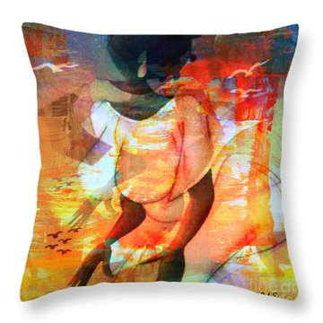 Jeanine Throw Pillow by Fania Simon