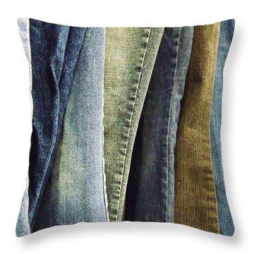 Jeans Throw Pillow by Anna Villarreal Garbis