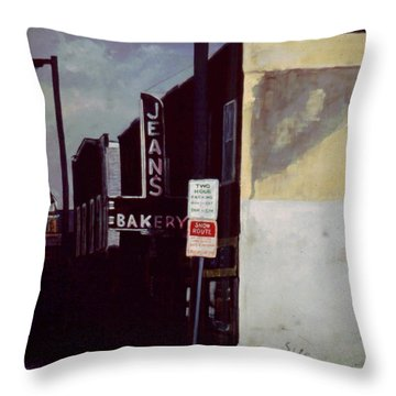 Jean's Bakery Throw Pillow