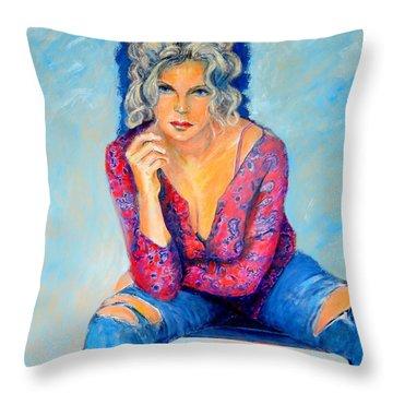 Jeans II Throw Pillow