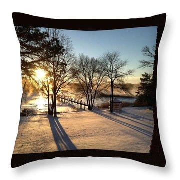 Jean's Photo Throw Pillow by John Loreaux
