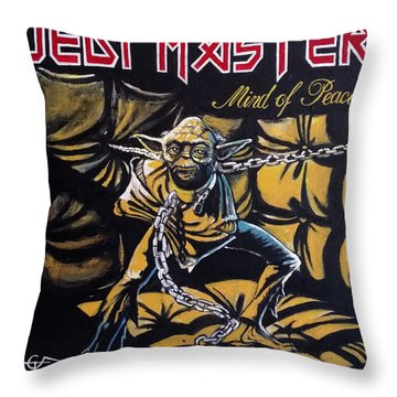 Jedi Master - Mind Of Peace Throw Pillow by Tom Carlton