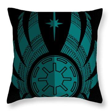Jedi Symbol - Star Wars Art, Blue Throw Pillow