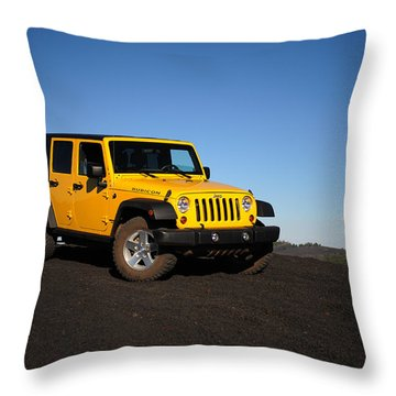 Jeep Rubicon In The Cinders Throw Pillow