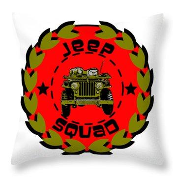 Jeep Squad Throw Pillow