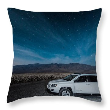 Jeep Under The Stars Throw Pillow