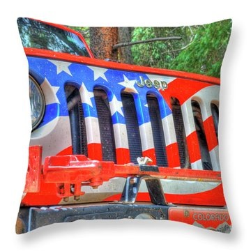Jeep Usa Throw Pillow