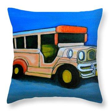 Jeepney Throw Pillow