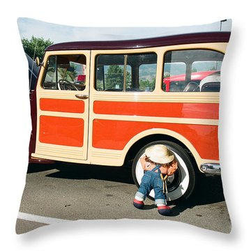 Jeepster Throw Pillow