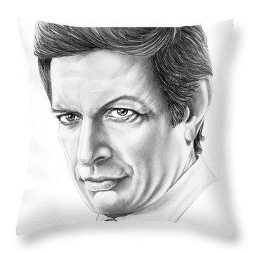 Jeff Goldblum Throw Pillow by Murphy Elliott