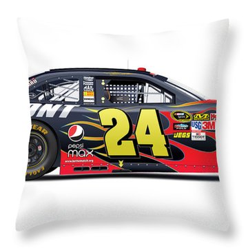 Jeff Gordon Nascar Image Throw Pillow