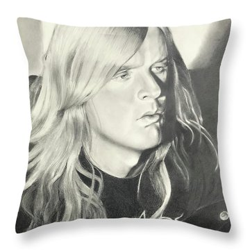 Jeff Hanneman Throw Pillow
