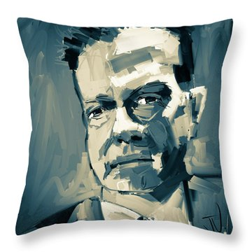Throw Pillow featuring the digital art Jeff by Jim Vance