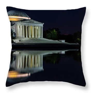 The Jefferson At Night Throw Pillow
